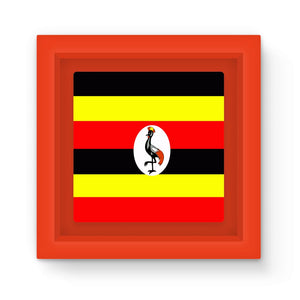 Flag Of Uganda Magnet Frame Homeware Flagdesignproducts.com