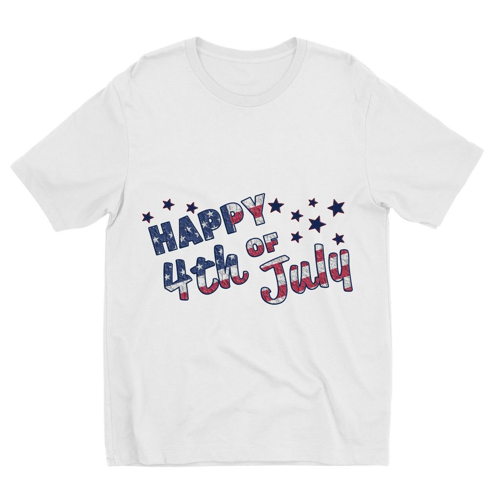 4Th July Usa Text Flag Kids Sublimation T-Shirt Apparel Flagdesignproducts.com