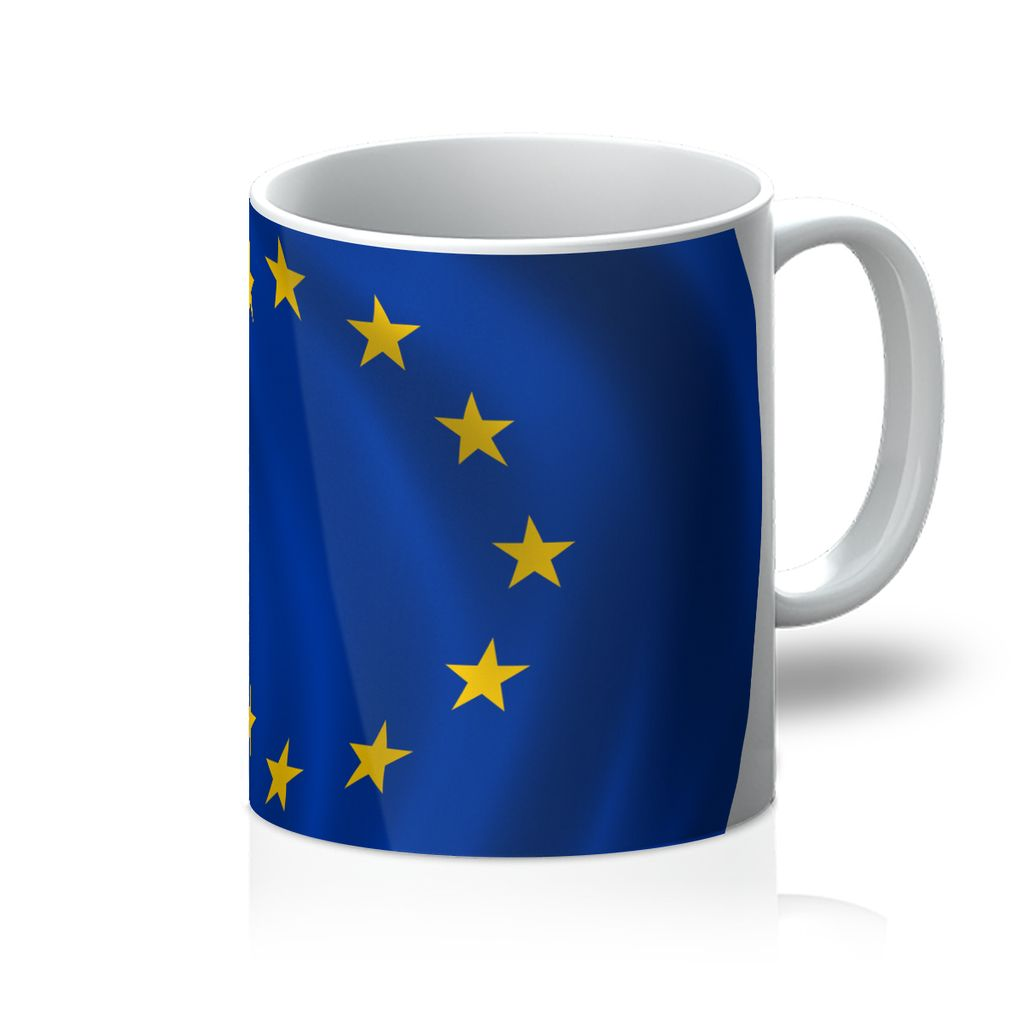 Waving Eu Flag Mug Homeware Flagdesignproducts.com
