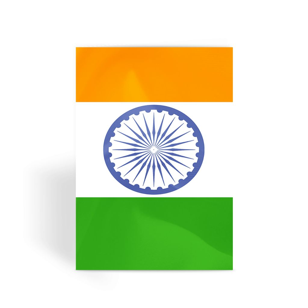 Waving Flag Of India Greeting Card Prints Flagdesignproducts.com