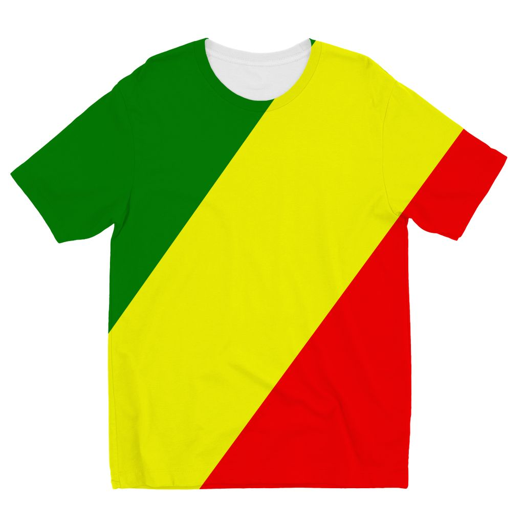 Flag Of The Rep Congo Kids Sublimation T-Shirt Apparel Flagdesignproducts.com