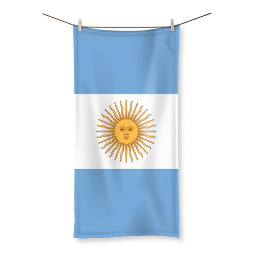 Argentina Flag Beach Towel Homeware Flagdesignproducts.com