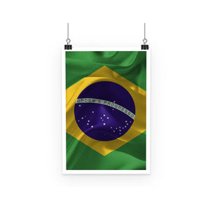 Brazil Waving Fabric Flag Poster Wall Decor Flagdesignproducts.com