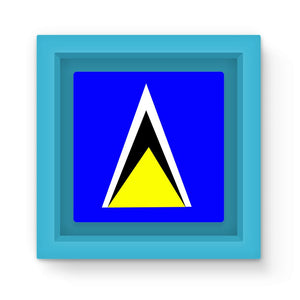 Flag Of Saint Lucia Magnet Frame Homeware Flagdesignproducts.com
