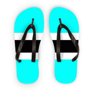 Flag Of Botswana Flip Flops Accessories Flagdesignproducts.com