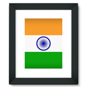 Basic India Flag Framed Fine Art Print Wall Decor Flagdesignproducts.com