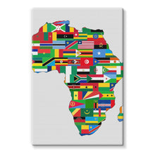 Africa Countries Flag Stretched Eco-Canvas Wall Decor Flagdesignproducts.com