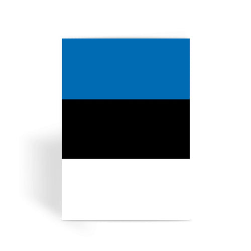 Basic Estonia Flag Greeting Card Prints Flagdesignproducts.com