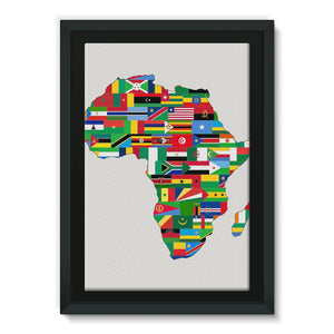 Africa Countries Flag Framed Canvas Wall Decor Flagdesignproducts.com