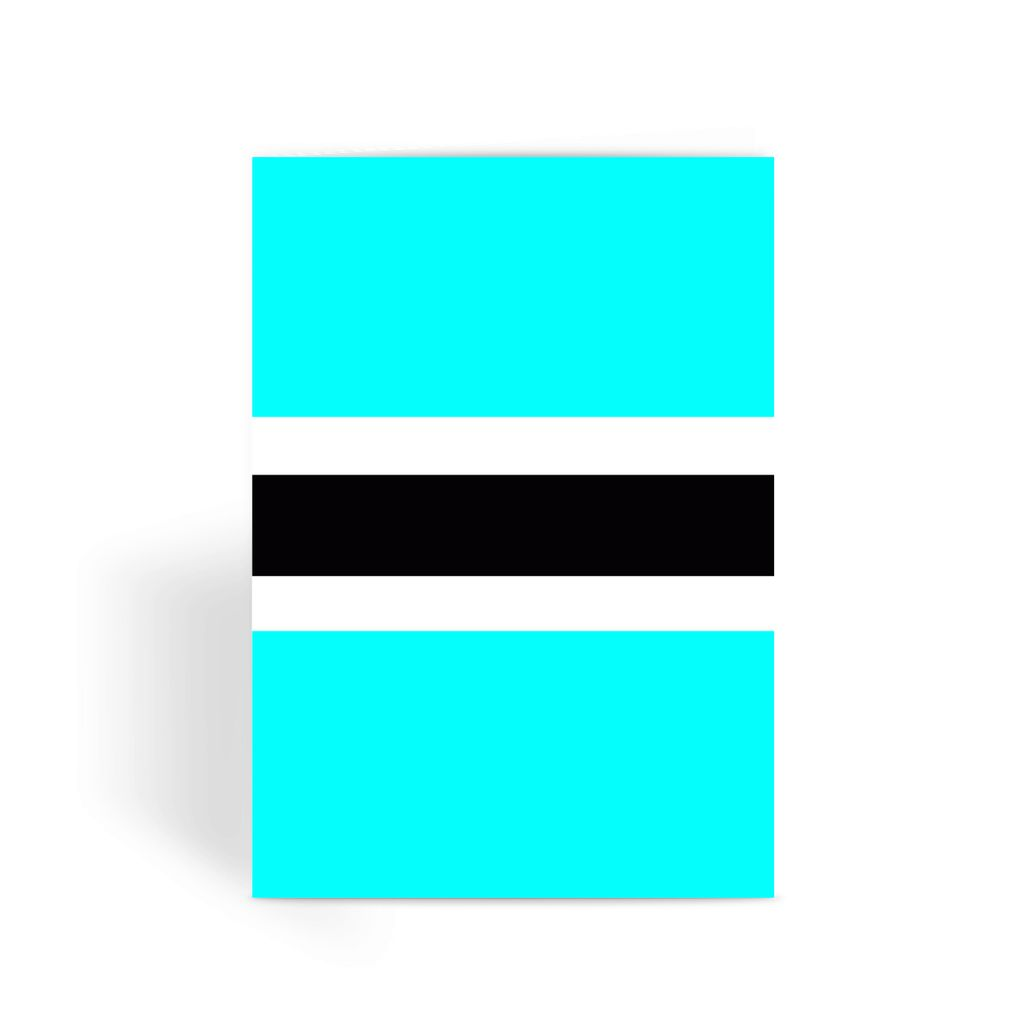 Flag Of Botswana Greeting Card Prints Flagdesignproducts.com