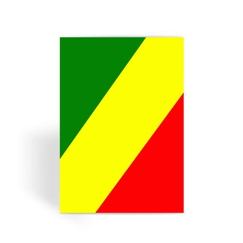 Flag Of The Rep Congo Greeting Card Prints Flagdesignproducts.com