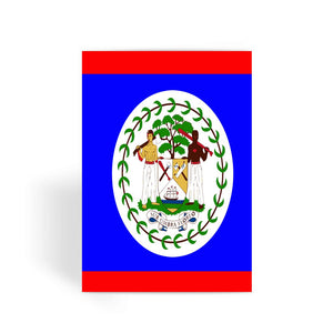 Flag Of Belize Greeting Card Prints Flagdesignproducts.com