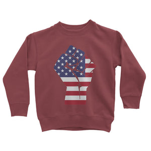 America First Hand Flag Kids Sweatshirt Apparel Flagdesignproducts.com