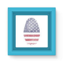 Usa Flag Finger Print Magnet Frame Homeware Flagdesignproducts.com