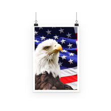 American Eagle And Usa Flag Poster Wall Decor Flagdesignproducts.com