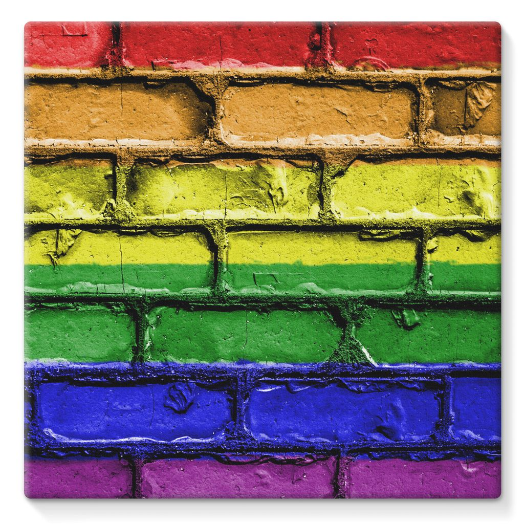 Colorful Lgbt Rainbow Flag Stretched Canvas Wall Decor Flagdesignproducts.com