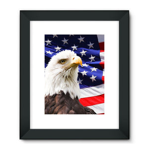 American Eagle And Usa Flag Framed Fine Art Print Wall Decor Flagdesignproducts.com