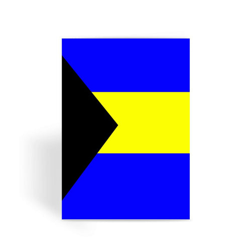 Flag Of The Bahamas Greeting Card Prints Flagdesignproducts.com