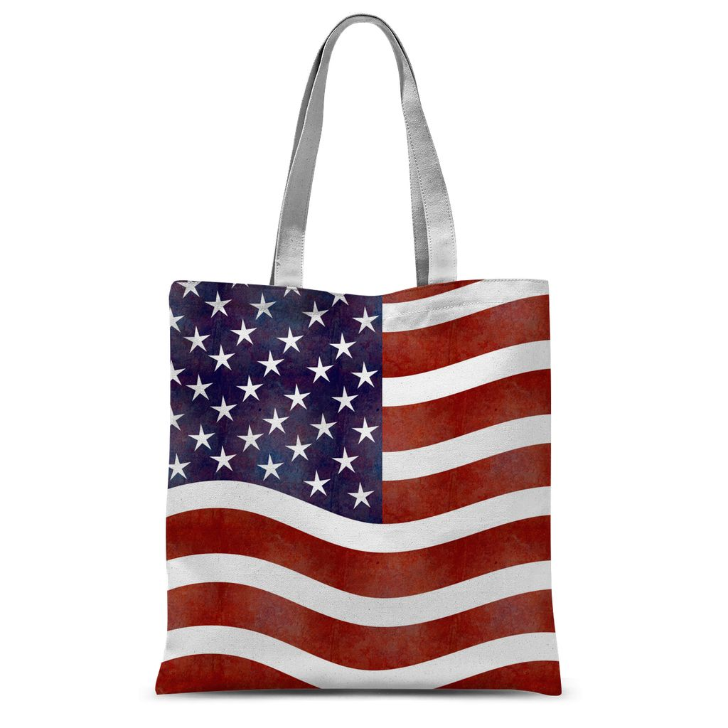 Waving Old Usa Flag Sublimation Tote Bag Accessories Flagdesignproducts.com