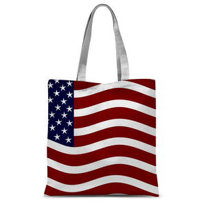 Waving Usa Flag Sublimation Tote Bag Accessories Flagdesignproducts.com