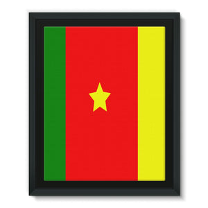 Flag Of Cameroon Framed Eco-Canvas Wall Decor Flagdesignproducts.com