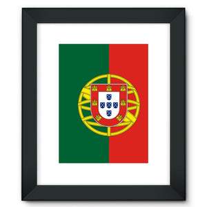 Basic Portugal Flag Framed Fine Art Print Wall Decor Flagdesignproducts.com