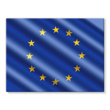Waving Eu European Flag Stretched Canvas Wall Decor Flagdesignproducts.com