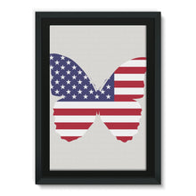 Usa Flag Butterfly Framed Eco-Canvas Wall Decor Flagdesignproducts.com
