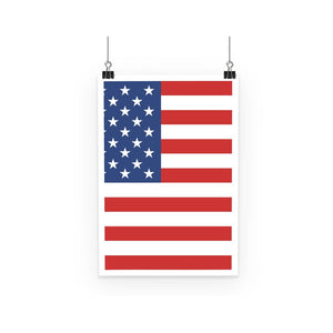 Basic America Flag Poster Wall Decor Flagdesignproducts.com