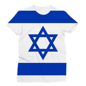 Basic Isreal Flag Sublimation T-Shirt Apparel Flagdesignproducts.com