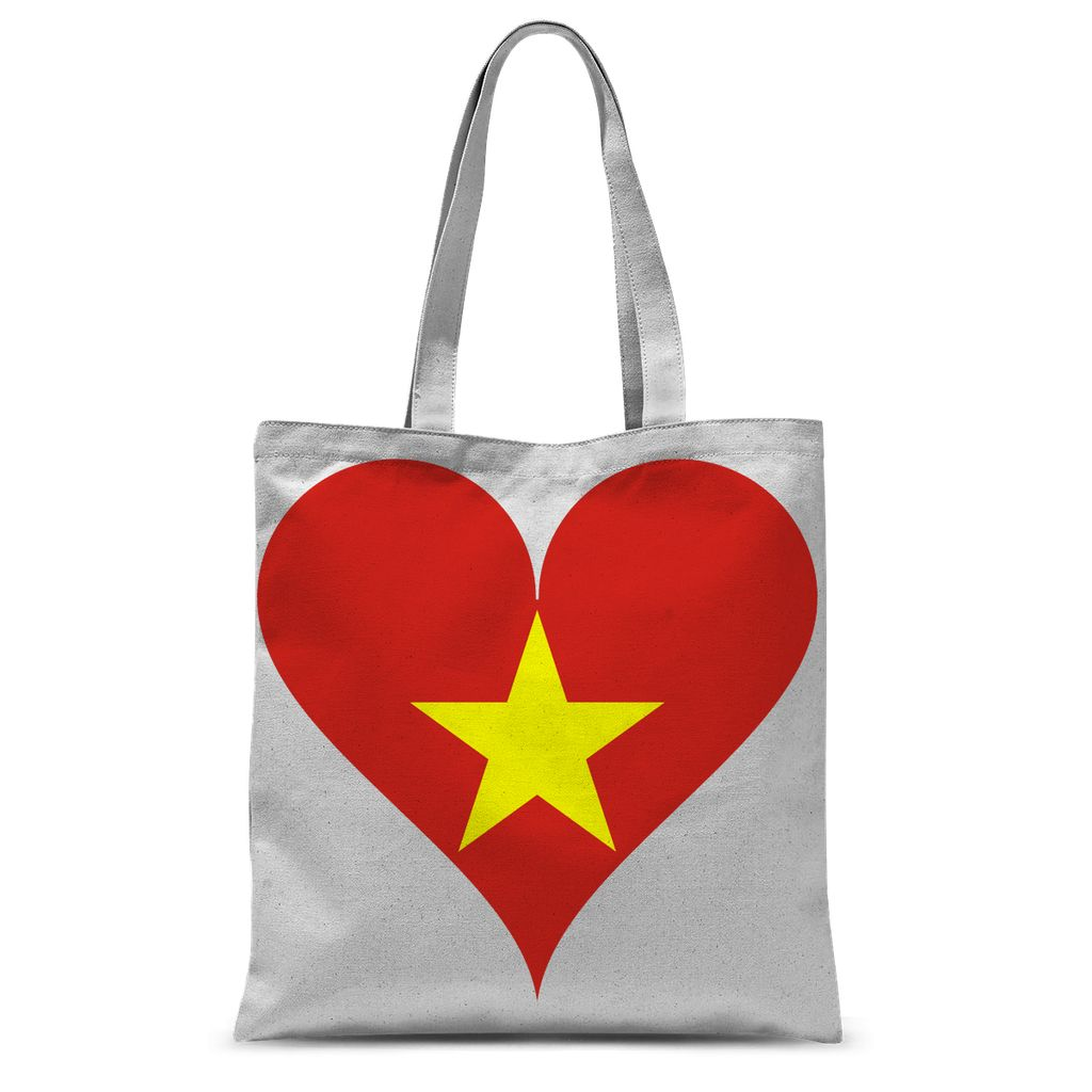 Vietnam Heart Flag Sublimation Tote Bag Accessories Flagdesignproducts.com