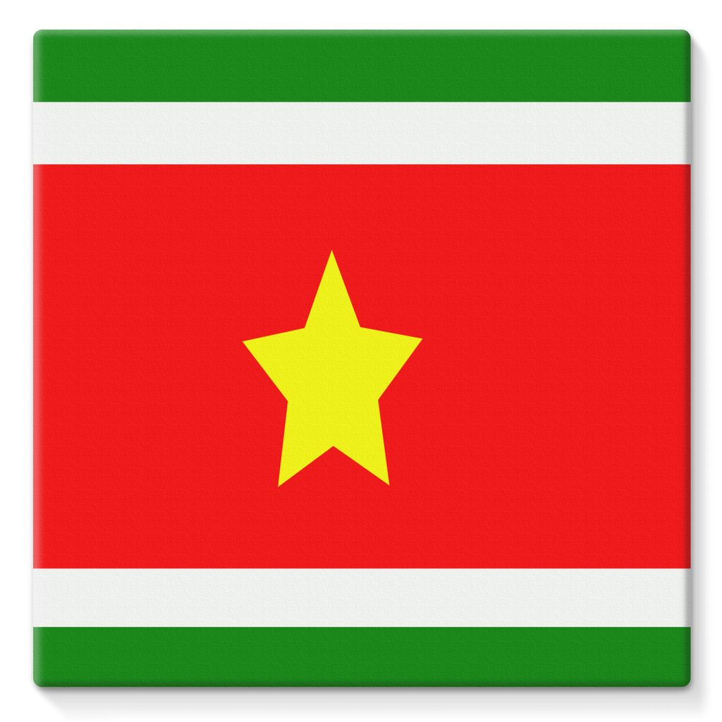 Flag Of Suriname Stretched Eco-Canvas Wall Decor Flagdesignproducts.com