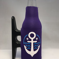 Purple Cleatus Cooler, White & Blue Anchor