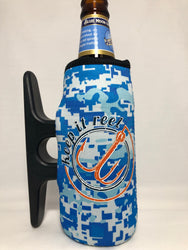 Big H2O Camo Cleatus Cooler, Keep It Reel Blue/Orange