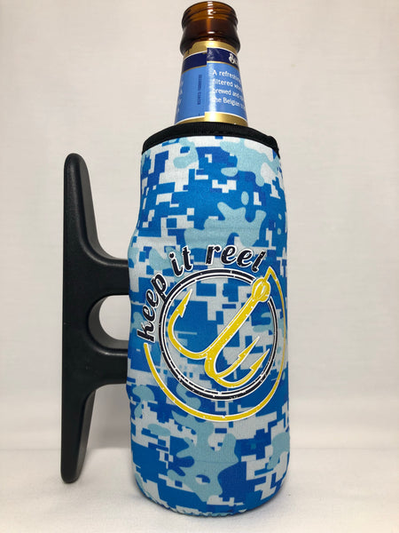 Big H2O Camo Cleatus Cooler, Keep It Reel Blue/Yellow
