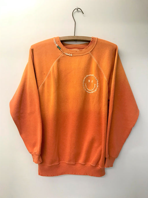 Happy Face Rainbow Sweatshirt | Orange