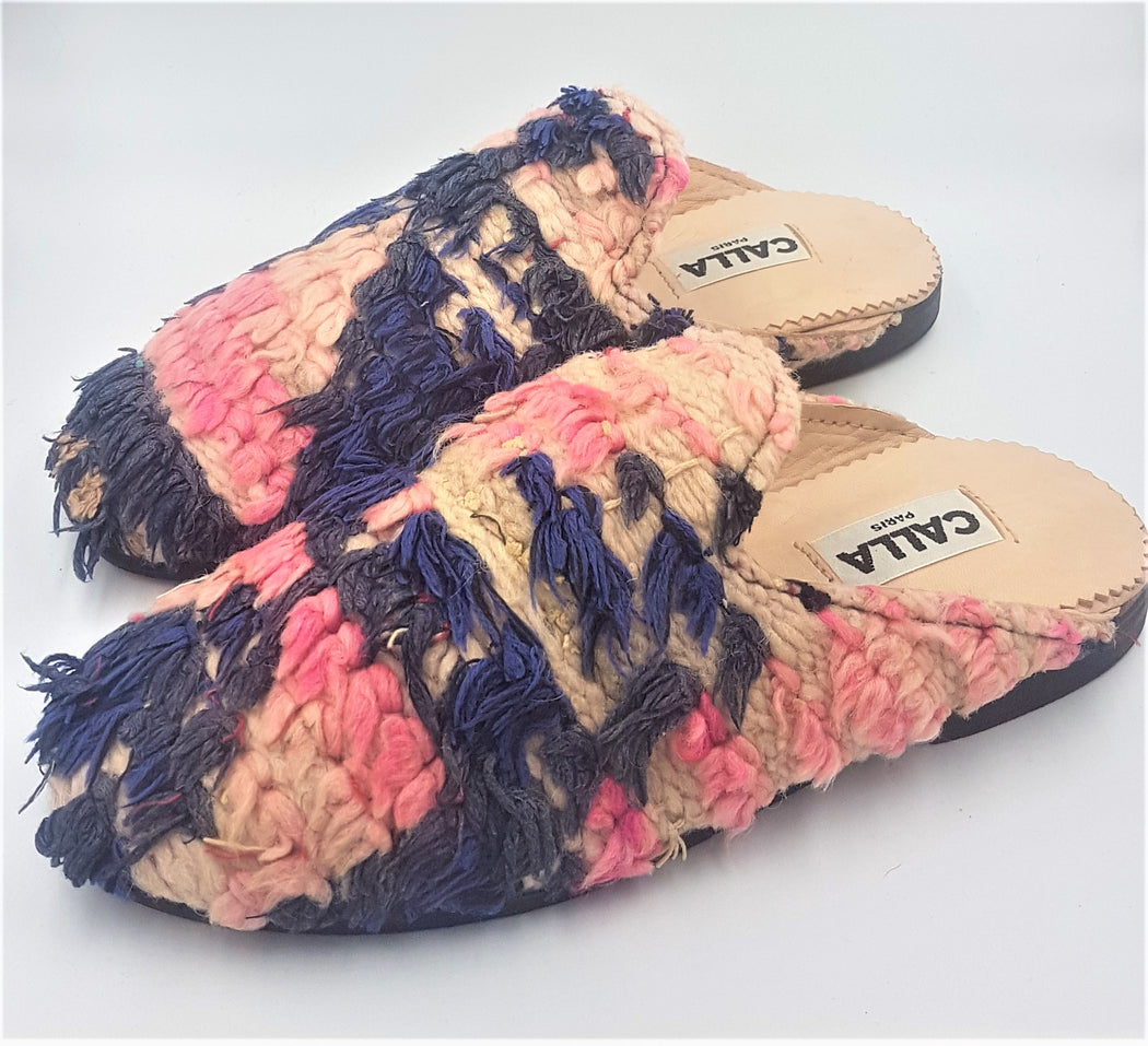 Niki Babouche Slippers - Size 8