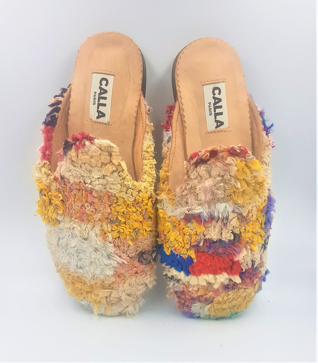 Niki Babouche Slippers - Size 7