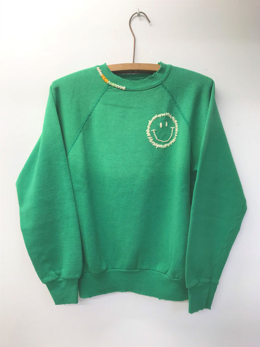Happy Face Rainbow Sweatshirt | Green
