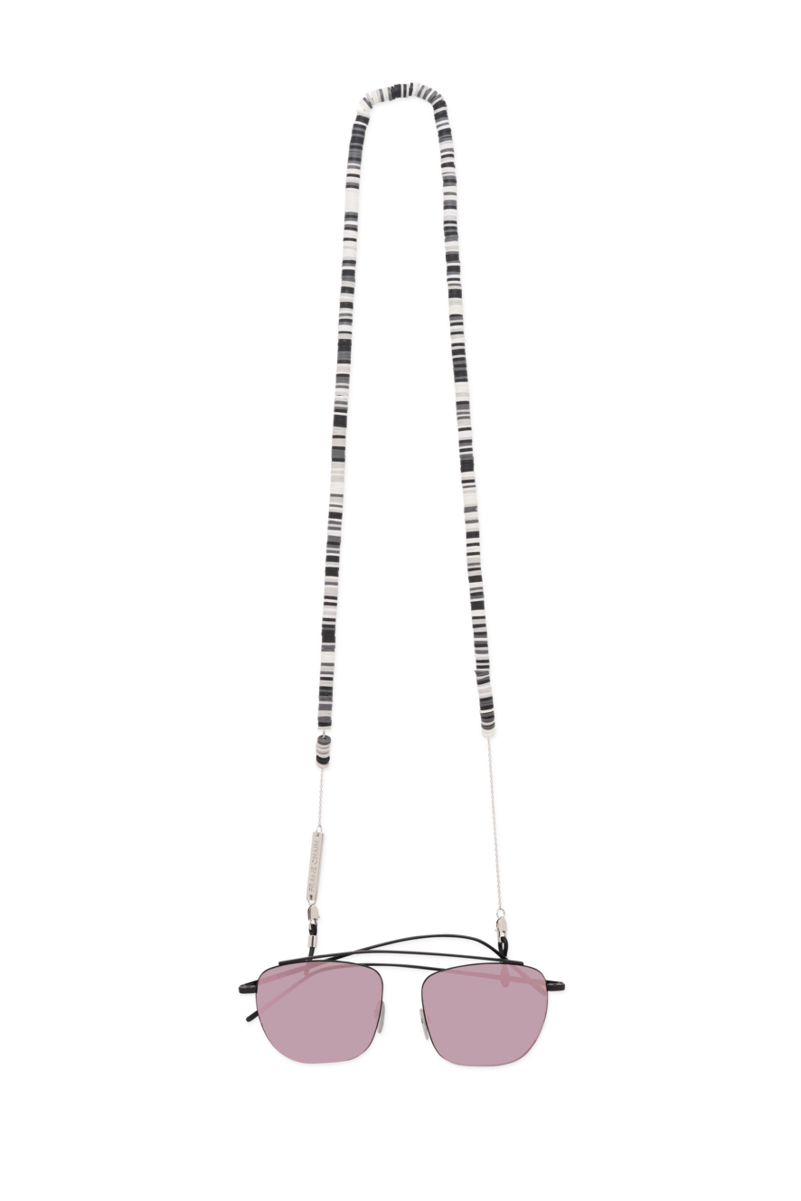 Candy Rain Chain | White Gold / Black