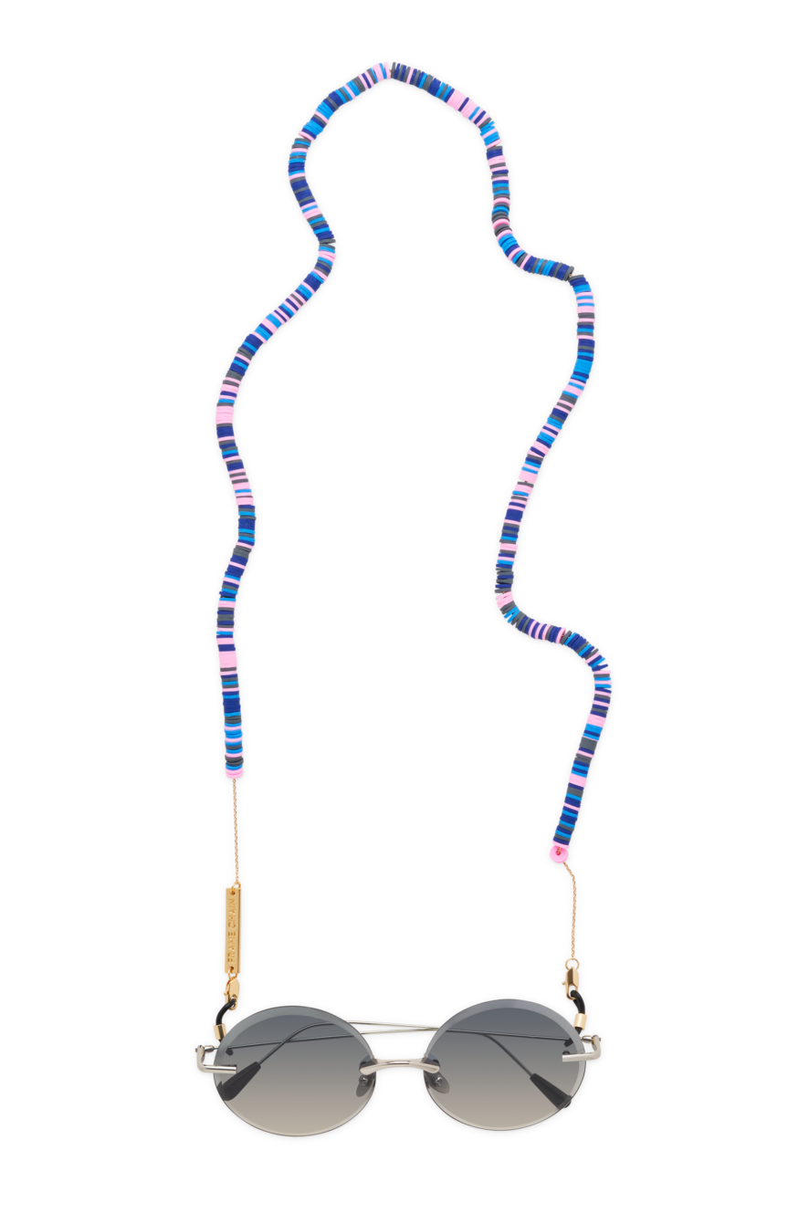 Candy Rain Chain | Yellow Gold / Blue