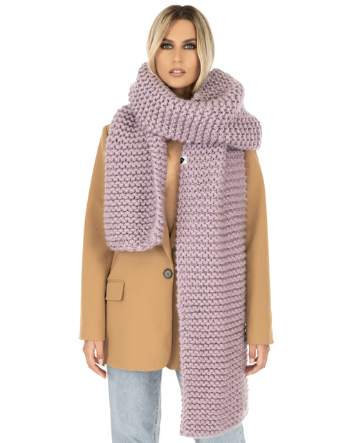 Straight Ribbed Scarf | Lilac