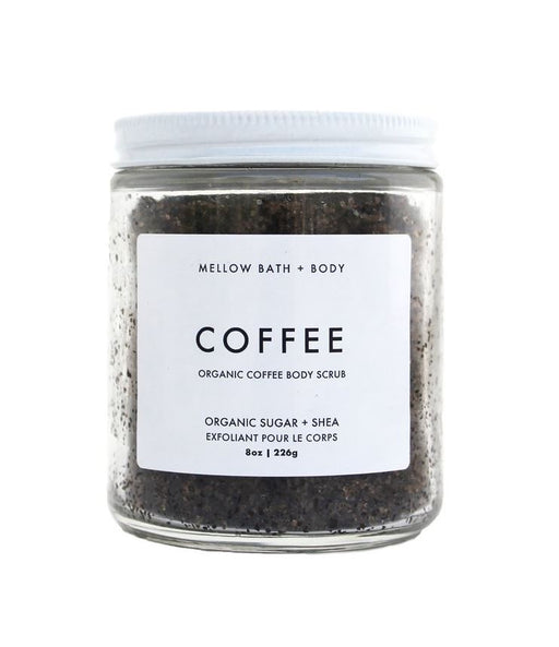 The fresh and rich aroma of fair trade organic coffee stimulates your senses. Along with organic cane sugar, this duo improves circulation and exfoliates, restoring your skin while helping fight cellulite. Raw shea butter and coconut oil lock in moisture for a perfect finish. Perfect for dry or uneven skin.