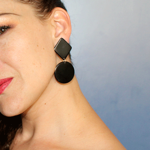 Manuela Earrings | Black