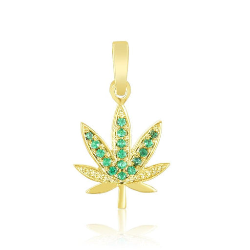 Mary Jane Charm | Gold/Emerald