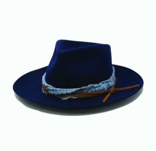Nick Wool Fedora | Navy