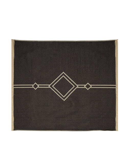 Custom made 100% cotton double-sided bed blanket with soft tassel edge detail.