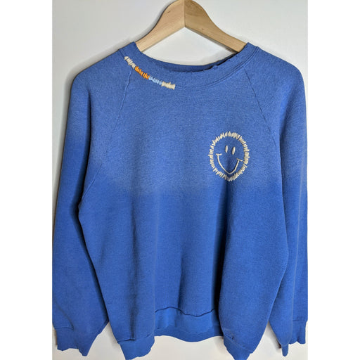 Happy Face Sweatshirt -Blue