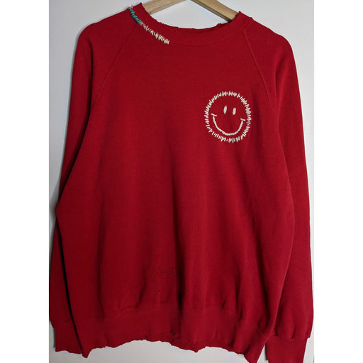 Happy Face Rainbow Sweatshirt | Red