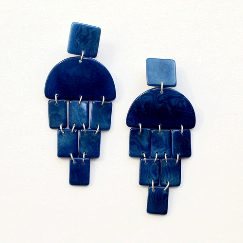 Virgilia Earrings | Blue